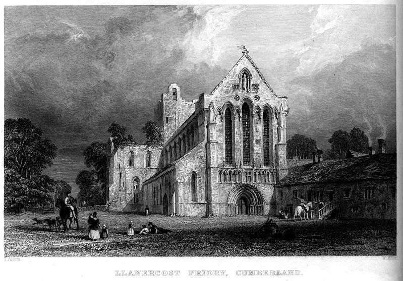 Llanercost Priory, Cumberland Gravur von Thomas Allom (1804-1872, United Kingdom)