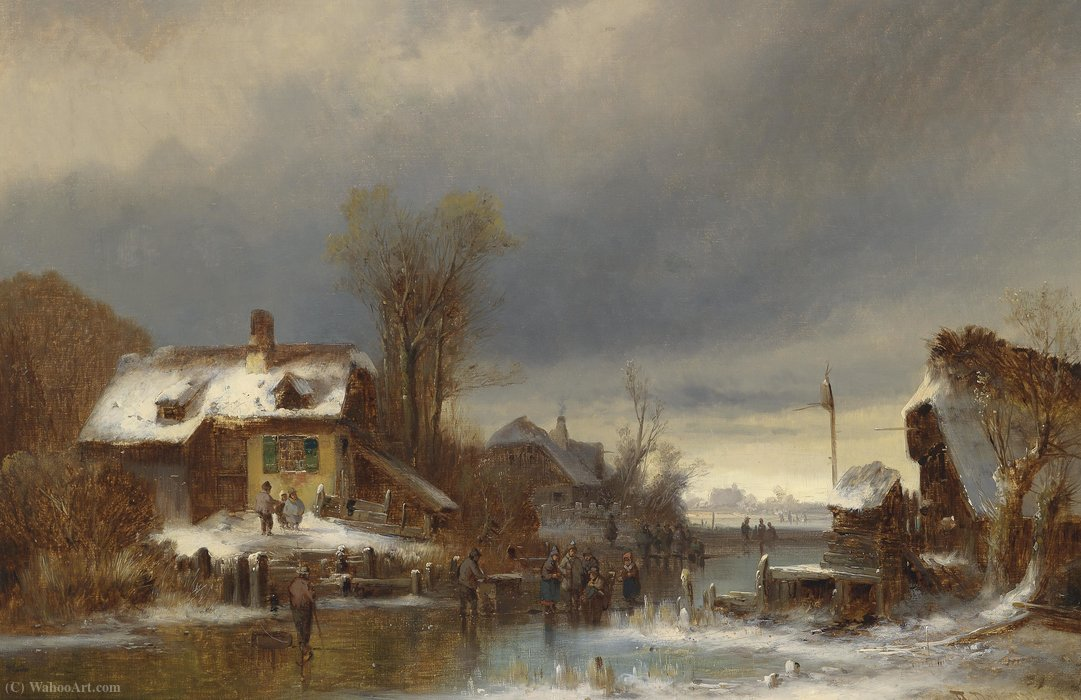Winterfreuden von Anton Doll (1826-1887, Germany)