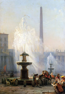 Friedrich Nerly - Piazza San Pietro, Rom