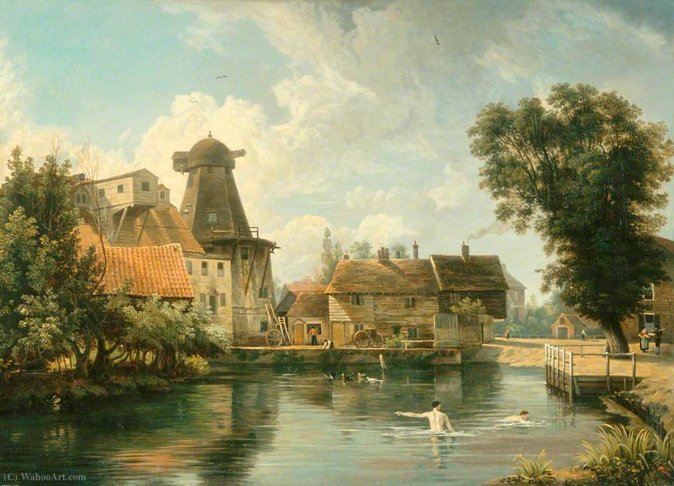 A Norfolk millpool von George Vincent (1796-1831, United Kingdom)