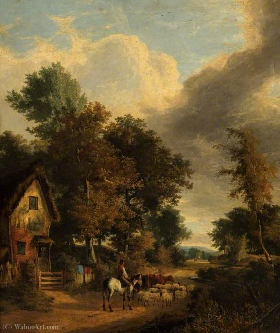 Grove-Szene, Norwich von George Vincent (1796-1831, United Kingdom)