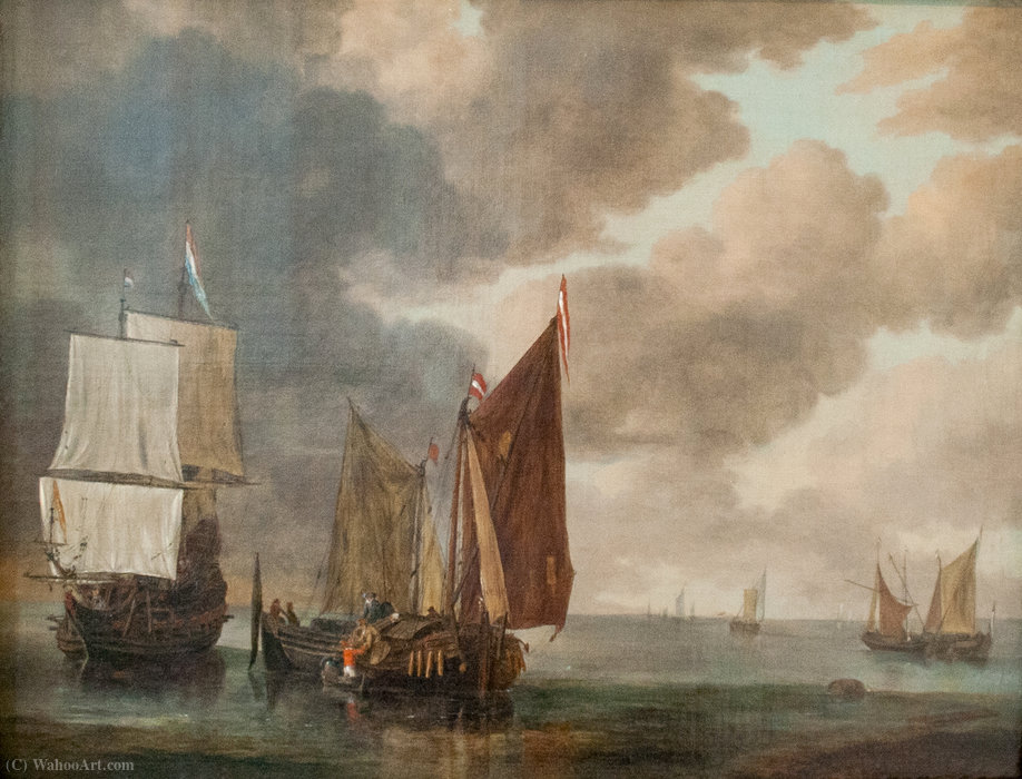 Seascape von Reiner Nooms (1623-1667, Netherlands)