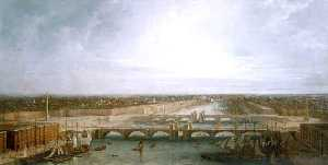 Thomas And William Daniell - George Dance-s Design für die neue london brücke , London untergebracht