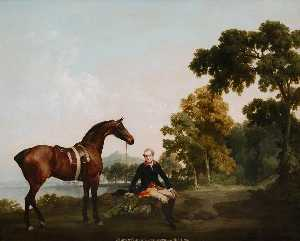 George Stubbs - lord clanbrassil mit jäger mowbrary