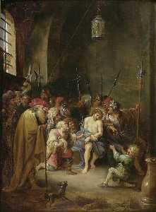 David The Younger Teniers - Die Verspottung Christi