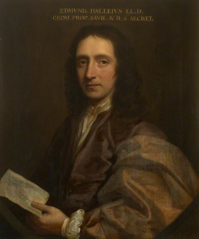 edmond halley ( 1656–1742 ), 1690 von Thomas Murray (1663-1734) | Museumsqualität Prints Thomas Murray | ArtsDot.com
