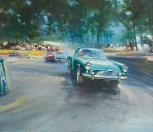 Frank Wootton - -Sunbeam Alpine- Rennsport