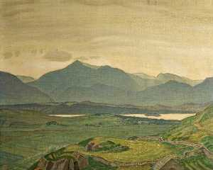 Charles March Gere - Regen Sammeln on Snowdon