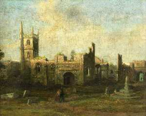Samuel Griffiths Tovey - Str James-s Kirche und priory , 1630