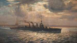Arthur James Wetherall Burgess - HMS -Chester- in der Mersey